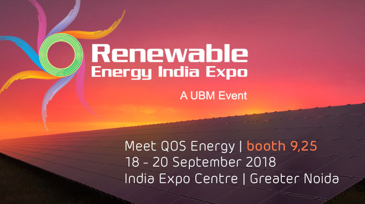 Meet QOS Energy at Renewable Energy India Expo