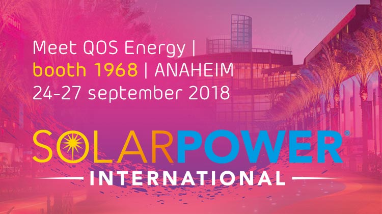 Qos Energy will be at Solar Power International