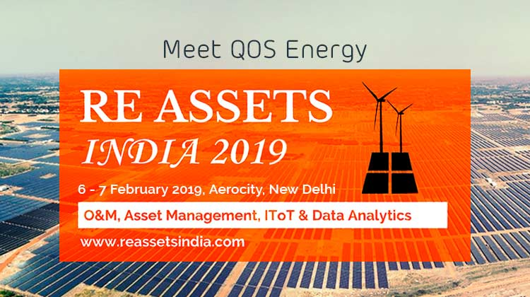 Meet QOS Energy at RE Assets India, 6-7 February