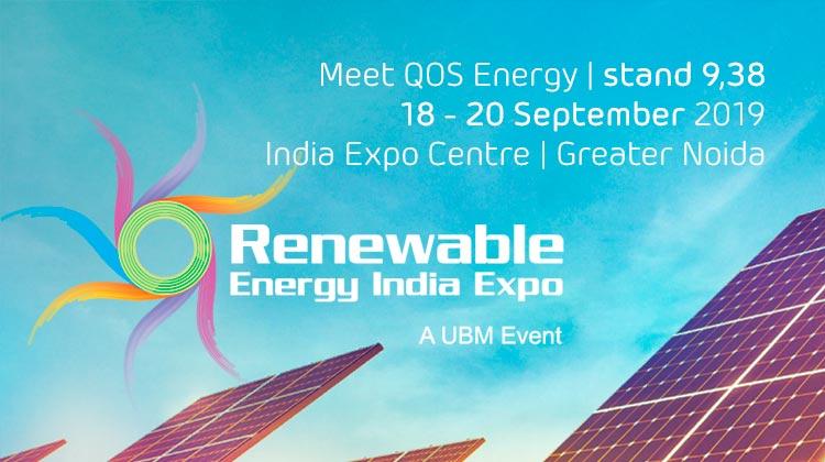 Meet QOS Energy at Renewable Energy India Expo