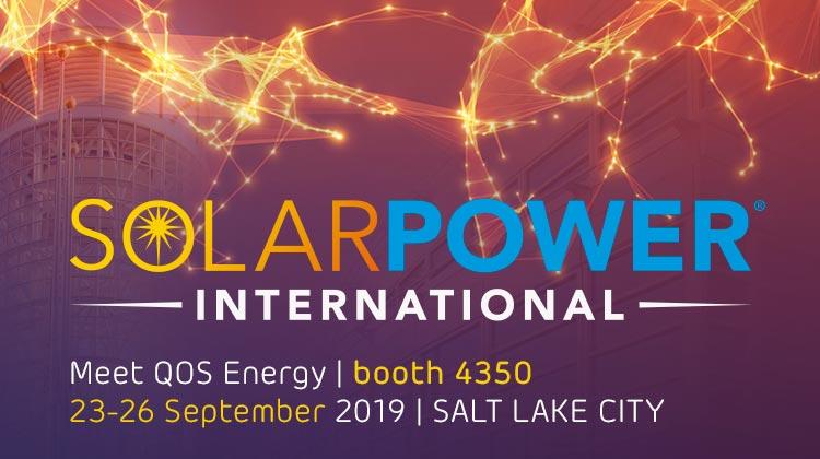 Meet QOS Energy at Solar Power International 23-26 september