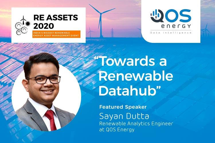 Sayan Dutta speaking at RE Assets - Towards a Renewable Datahub