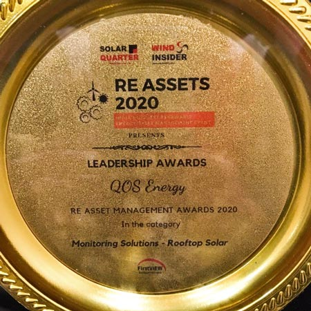 Solar Monitoring for Rooftop - Leadership Award - RE Assets India 2020