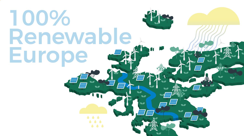 Europe map - renewable energies