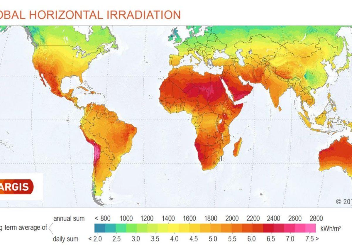 Solargis Solar Irradiance Map